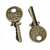 Key Charm Steampunk - 2 Pack