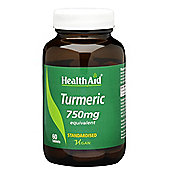 HealthAid Turmeric 60 Tablets 750mg