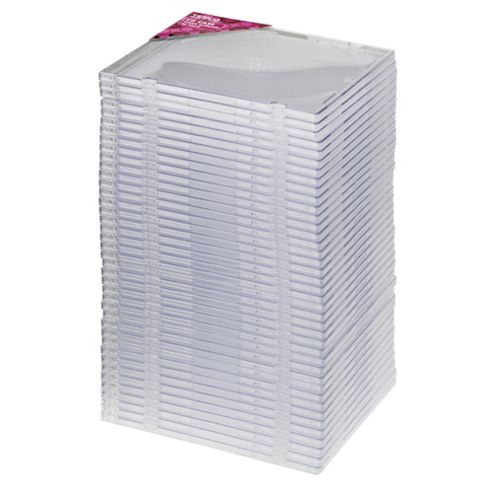 Tesco Slimline Cases for 40 CDs / DVDs
