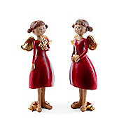 Set of Two Standing Christmas Fairy Ornaments