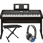 Yamaha DGX650 Keyboard Package in Black