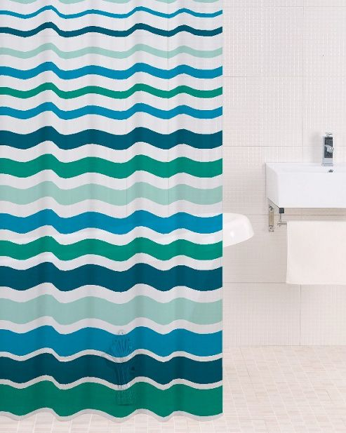 Sabichi PEVA Shower Curtain in Lagoon