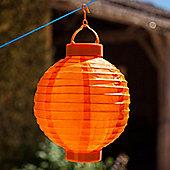 Orange LED Solar Powered Chinese Hanging Lantern
