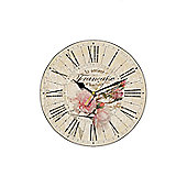 Smith & Taylor French Rose Vintage Round Wall Clock