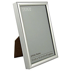 Tesco Basic Photo Frame Silver 4 x 6""