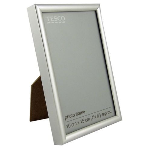 Tesco Basic Photo Frame Silver 4 x 6