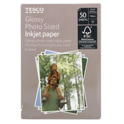 Tesco Glossy photo sized inkjet paper - 50 Sheets