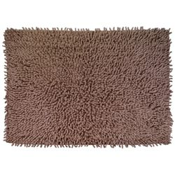 Tesco Chenille Bath Mat, Dark Natural