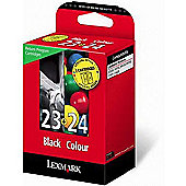 Lexmark No 23 & No 24 Return Program Print Cartridges - Black/Clear
