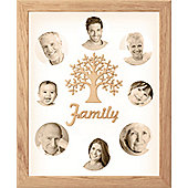 Large Family Photo Tree of Life Picture Frame Solid Oak 50x40cm (8)