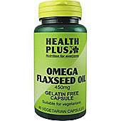 Health Plus Flaxseed Oil 460mg 90 Veg Capsules