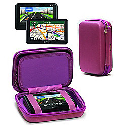 Navitech Hard Carry Case Purple For The TomTom Start 50
