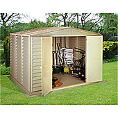 10ft x 8ft Plastic Pvc Shed With Steel Frame (3.19m x 2.39m)