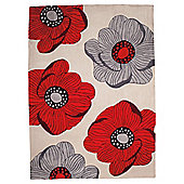 Tesco Sophia Rug Red 150X240Cm