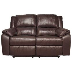 Furniture Link Rebecca Two Seat Reclining Sofa - Dark Brown