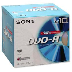 Sony DVD-R pack of 10