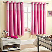 Sweetheart, Pink Gingham Blockout Curtains 66 x 54