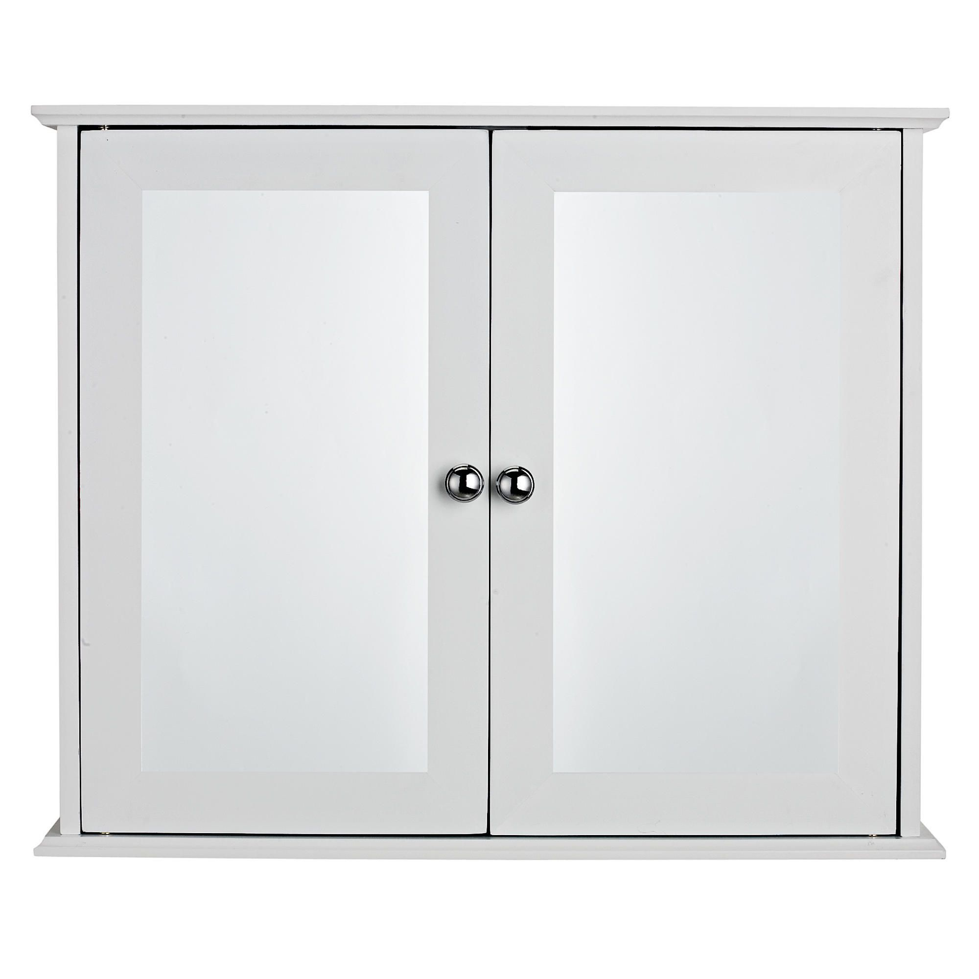 Sheringham White Wood Double Door Bathroom Cabinet