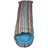 Apex 250 Square Camping Travelling Lightweight Summer Striped Sleeping Bag