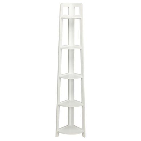 Buy Sheringham Bathroom 5 Tier Corner Shelving Unit White