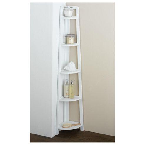 Original Bathroom Cupboard White Corner Storage Unit 1 Door Cupboard 2 Shelf