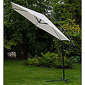 Norfolk 3m Hanging Banana Garden Parasol Cream