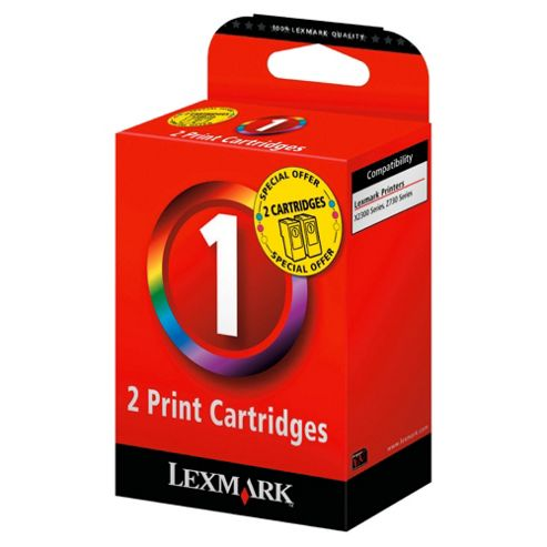 Lexmark 1 Printer Ink Cartridge - Tri-colour Twin Pack (80D2955KIT)