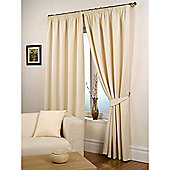 Hamilton McBride Waffle Lined Pencil Pleat Curtains - Natural