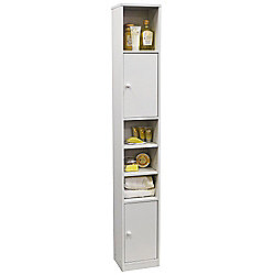 Jamerson - Large Tower Storage Cupboard - White
