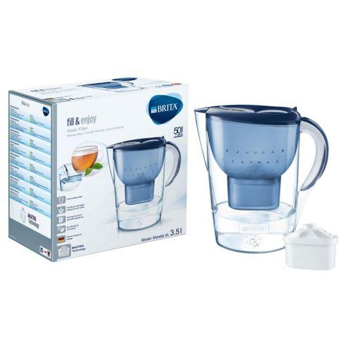 BRITA Marella XL 3.5 Litre Water Filter Jug, Blue