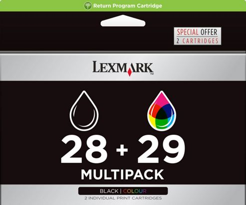 Lexmark 28/29 Printer Ink Cartridge (18C1520EKIT)- Tri-Colour