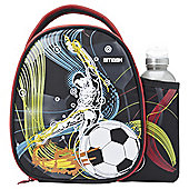 Smash Football Lunch Bag and Water Bottle Set