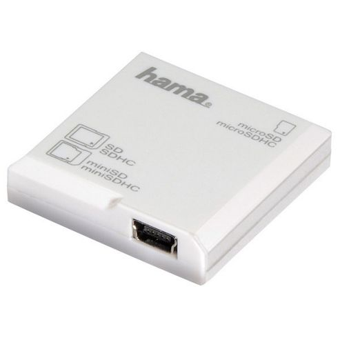 Hama All in One microSD Card Reader - White
