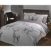 Rapport Heritage Highland Stags Single Quilt Set Natural