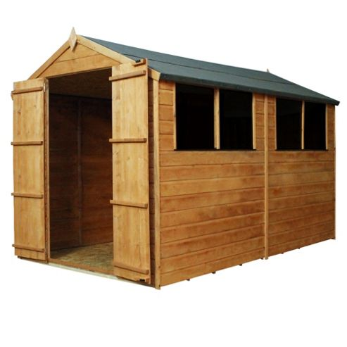Mercia Shiplap Apex Wooden Shed, 10x6ft