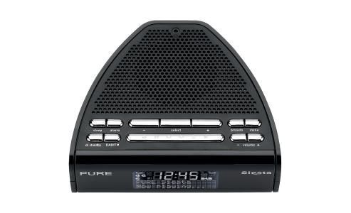 buy pure siesta dab fm alarm radio black from our all clock radio range. Black Bedroom Furniture Sets. Home Design Ideas