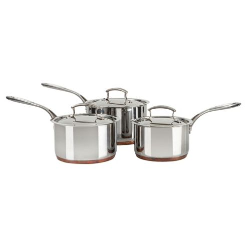 Professional Go Cook 3 Piece Copper Base Pan Set