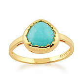 Gemondo Amazonite 'Diantha' Pastel Ring in 9ct Yellow Gold Plated Sterling Silver