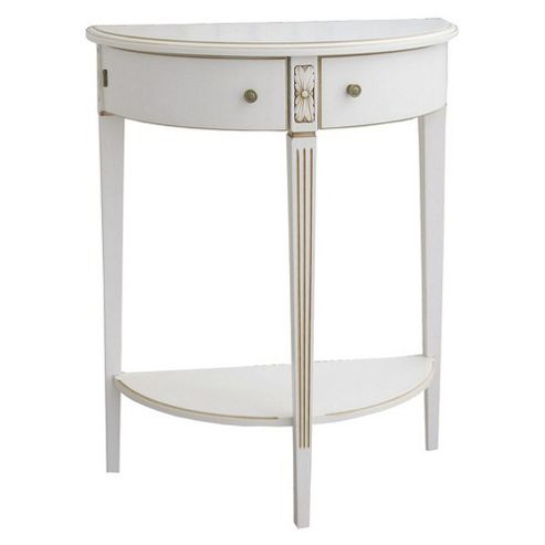 buy furniture link chateau small half moon table in antique cream from our console tables range. Black Bedroom Furniture Sets. Home Design Ideas
