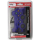 TTX Tech PS3 PC Wired Controller Brand New (Blue) - PS3
