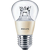 Philips 6-40W Dimmable Clear Golf Ball LED Bulb - Edison Screw (ES)