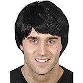 Fred Flintstone Style Black Wig