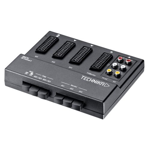 Technika SBX84 SCART switcher connect 3 devices into 1 SCART socket