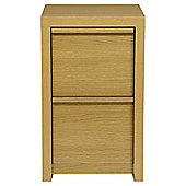 Tribeca 2 Drawer Filer, Oak