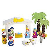 Wooden Children's Nativity Set