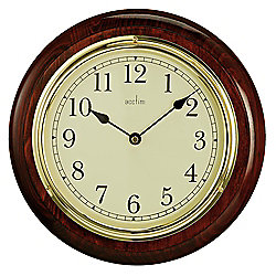 buy acctim boston wood wall clock from our clocks range. Black Bedroom Furniture Sets. Home Design Ideas