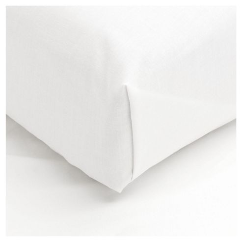 Tesco 100% Cotton Double Flat Sheet , White