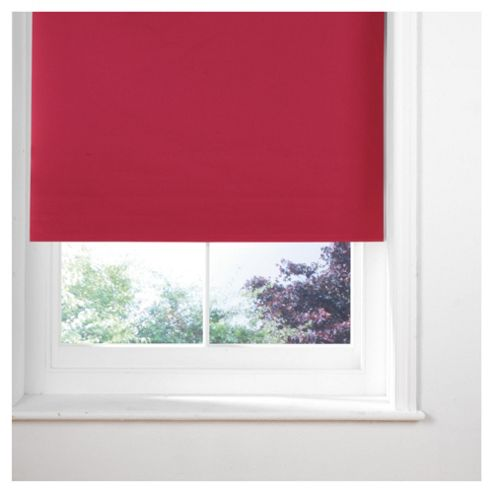 Thermal Blackout Blind, Red 90Cm