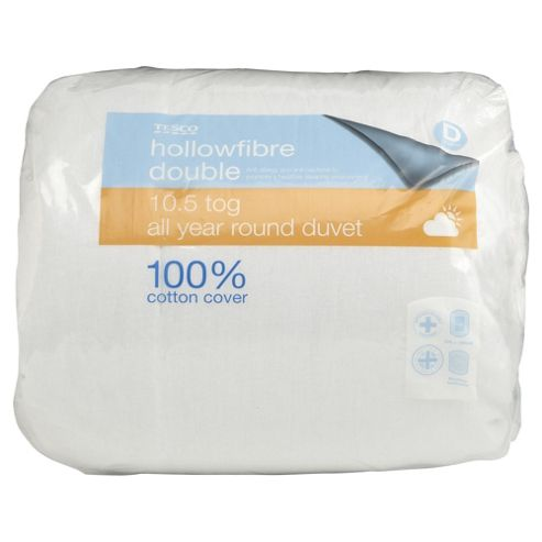 Tesco Standard Cotton Cover 10.5 Tog Duvet Double