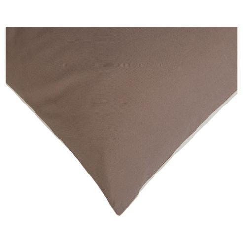 Tesco Twin Pack Pillowcase, Dk Natural